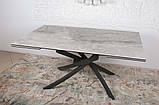 Стіл LINCOLN 160/240 см кераміка світло-сірий глянець (безкоштовна доставка), фото 4