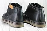 Стильні чоловічі комфортні черевики натуральний нубук комфорт, фото 4