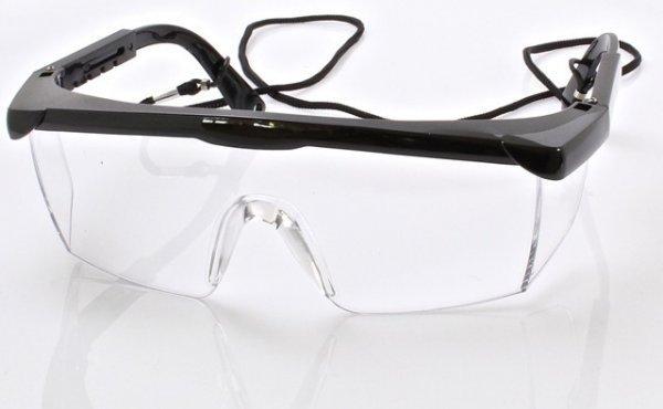 Окуляри захисні, прозоре скло SATRA S-SG014