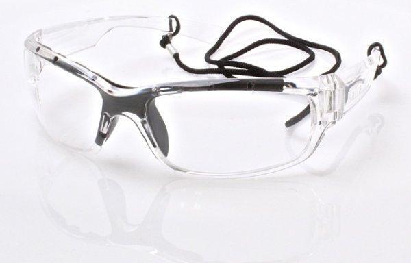 Очки защитные, прозрачное стекло SATRA S-SG053