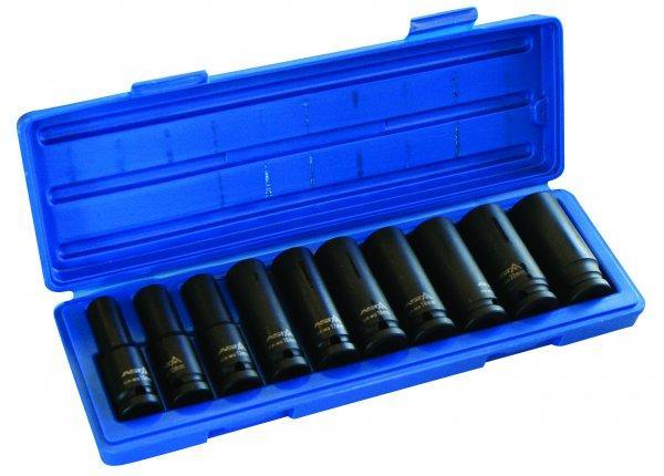 Набор головок Cr-Mo ударных длинных 1/2, 10шт (10-24мм) ASTA 914010P-1