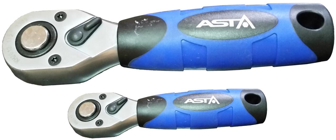Тріскачка з гумовою ручкою 3/8 (36зуб) 140 мм ASTA KH2038 3/8