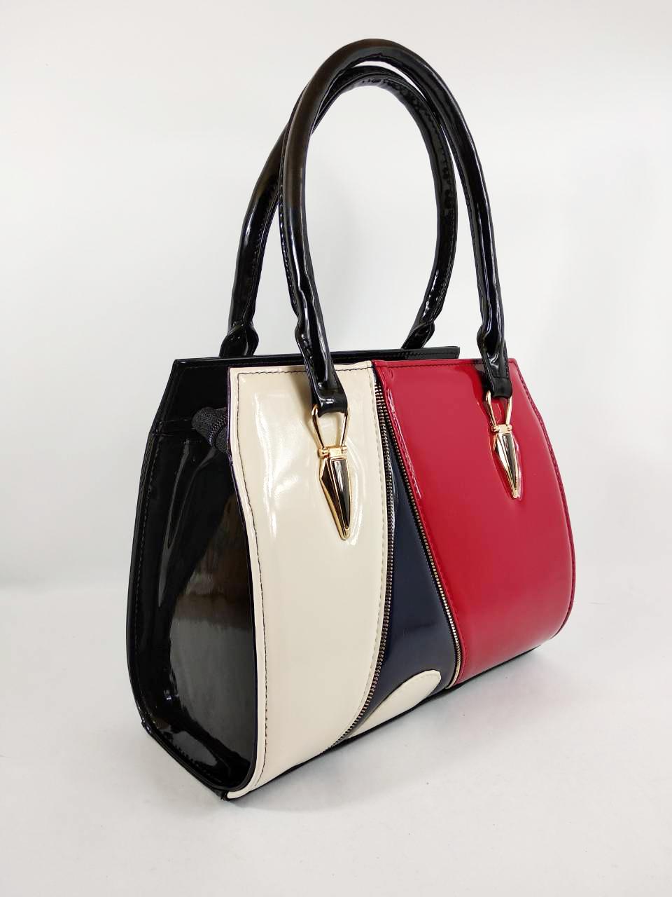 85945b06195e Сумка красная черная модная женская лаковая стильная - Интернет-магазин  женских сумок в Черновцах