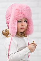 Шапка ушанка для девочки меховая Heppi (46–58р) в расцветках, фото 1