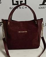 Женская сумка Michael Kors замшевая, цвет бордовый, 059235, фото 1