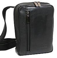 Небольшая наплечная кожаная сумка Always Wild 778NDM черная