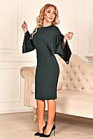 Коктейльное платье с кружевом, фото 1