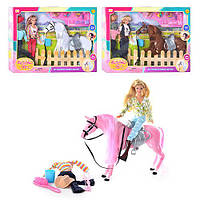 Лялька DEFA 8038 конячка, вбрання, аксесуари, бісер, 3 види, кор., 51-36-8см.