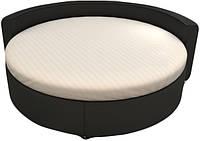 Простынь круглая на резинке 200см, Сатин-страйп 1♦1 (белая)