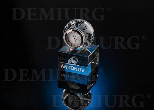 Часы в стекле с логотипом компании, фото 2