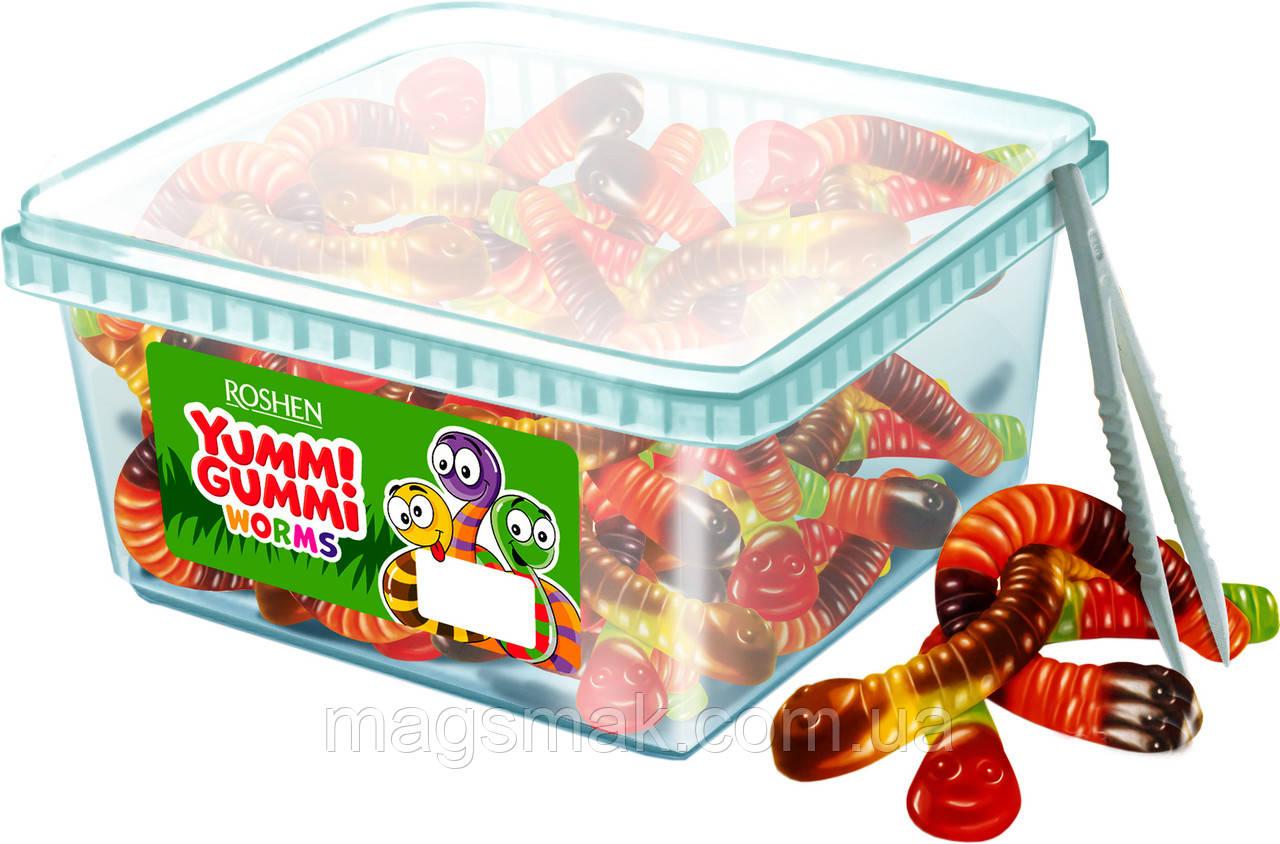 Цукерки жувальні Yummi Gummi Worms Рошен 1.5 кг