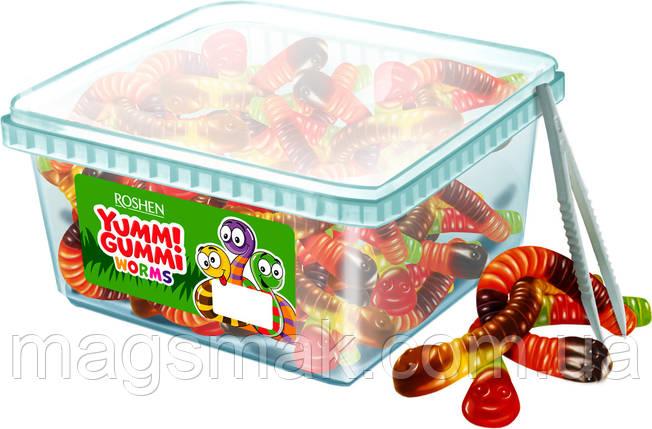 Цукерки жувальні Yummi Gummi Worms Рошен 1.5 кг, фото 2