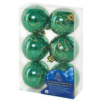 8317 Елочные шарики 6см 6шт/кор (96уп)