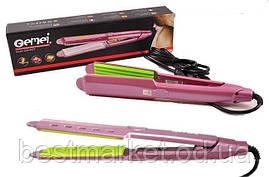 Утюжок щипцы гофре для завивки волос и объёма GEMEI GM-2957 керамика