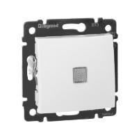 Выключатель с подсветкой - Valena - 10 AX - 250 В~ - белый