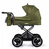 Универсальная коляска зеленая Tilli Family 2в1 люлька прогулочный блок матрасик москитная сетка дождевик