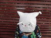 Вязанная зимняя шапка Сова