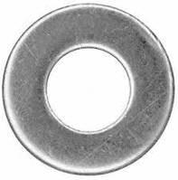 Шайба плоская, нержавеющая сталь.