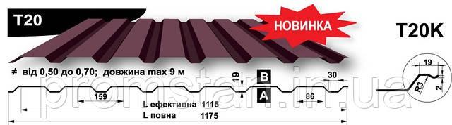 Кровельный профнастил Т-20, Николаев, Херсон