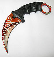 Нож керамбит CS GO красный с паутиной, фото 1