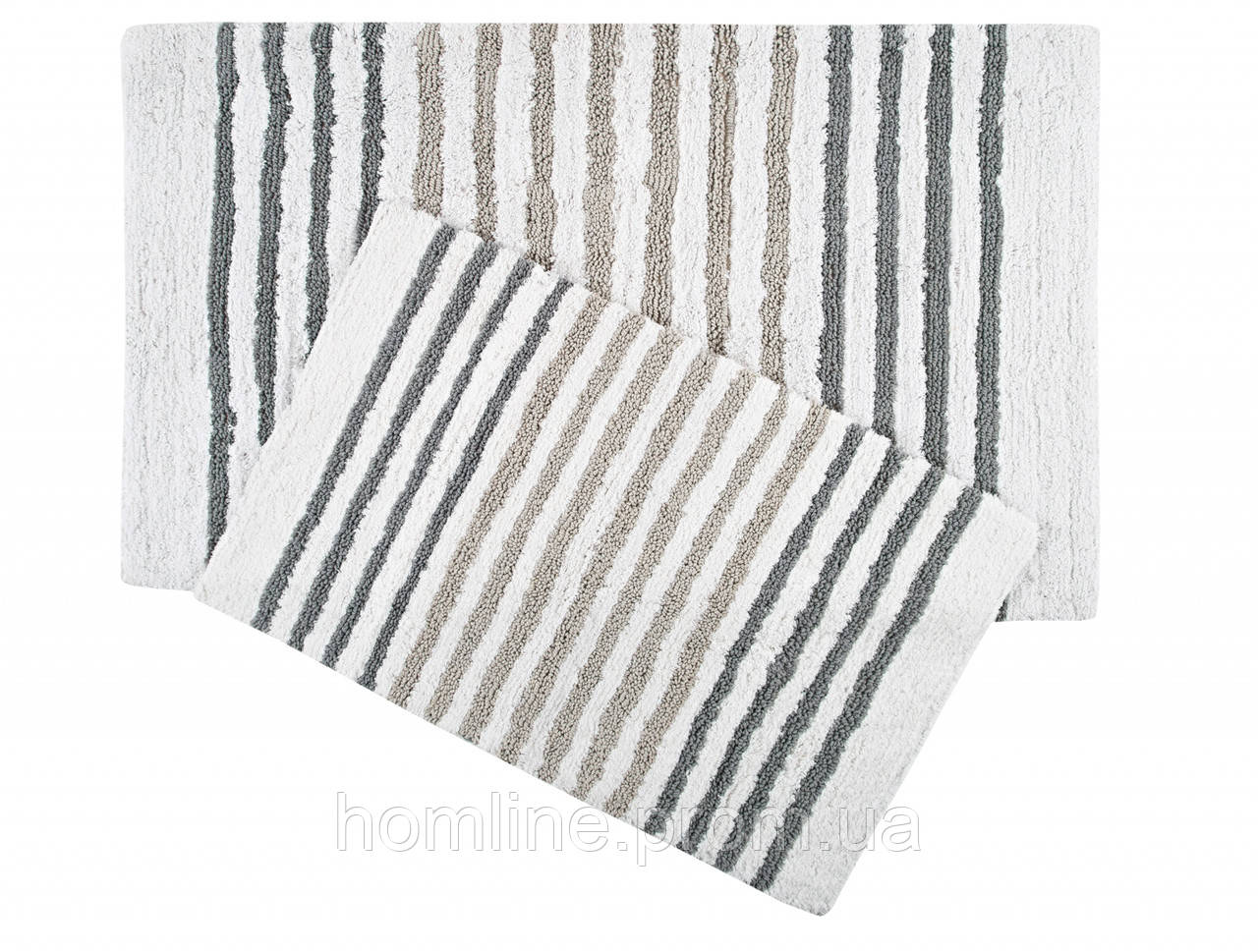 Набор ковриков Irya Grenada gri серый 70*115+55*80