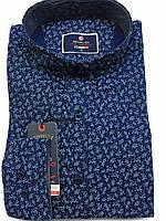 Мужская молодежная рубашка синий