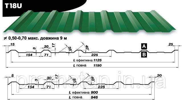 Профнастил Т-18, Николаев, Херсон