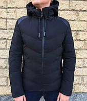 6f83aa08dff0 Зимняя короткая черная куртка в стиле Emporio Armani 50 размер