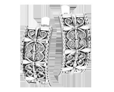 Сережки срібні Вензелі 41238