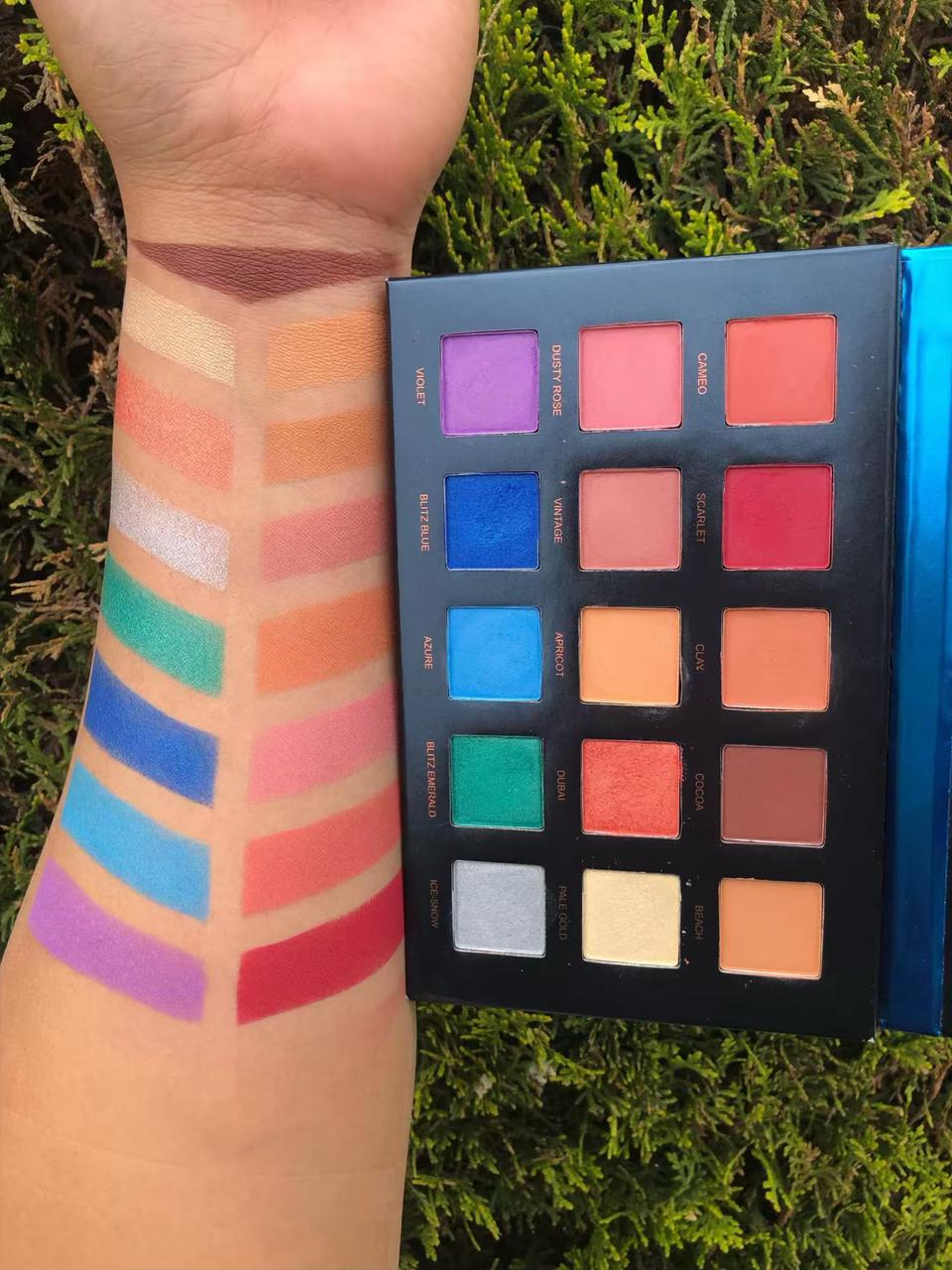 Beauty Glazed STRELITZIA textured shadow palette тени 15 цветов
