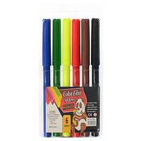 Фломастеры 858-7 (480шт) 6цветов, в кульке, 7-16-1см