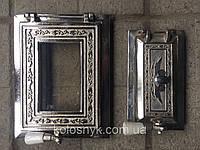 Дверца для печи и барбекю раздельная 315х240 мм, печная дверца со стеклом