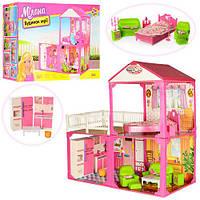Будиночок 6982B для ляльки, 2 поверхи, 3 кімнати, меблі, кор., 60-42-18 см.