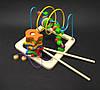Деревянная игрушка Лабиринт пальчиковый (многофункциональный)