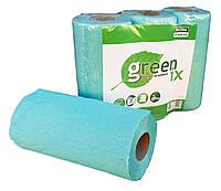 """Полотенце бумажное зеленое/розовое с перфорацией """"Green ix"""". Упаковка 3 рулона"""
