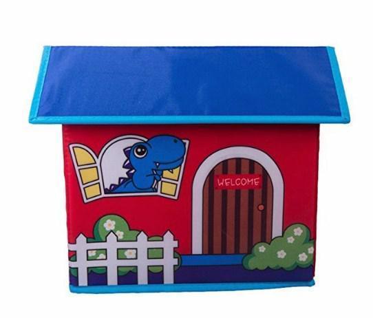 Короб Домик - органайзер для игрушек и вещей красный