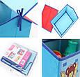 Короб Домик - органайзер для игрушек и вещей голубой, фото 7