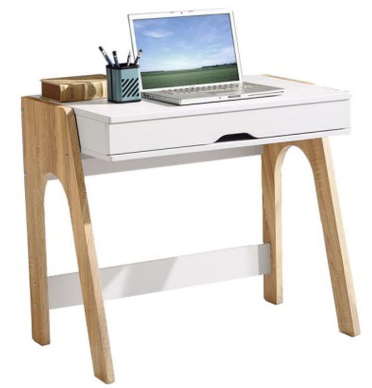 Компьютерный стол Esenin белый+орех светлый/белый