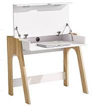Компьютерный стол Esenin белый+орех светлый/белый, фото 3