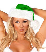 Зеленая новогодняя шапка А-1045