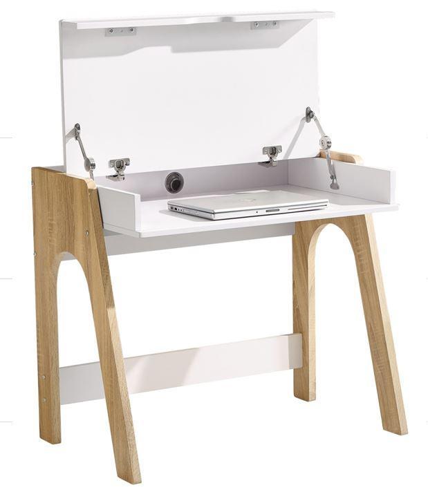 Компьютерный стол Esenin белый+орех светлый/белый (фото 2)