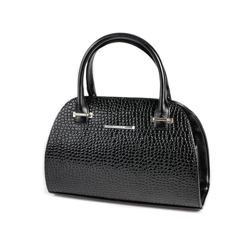 3e30d495e483 Лаковая сумка-саквояж М70-14/Z черная небольшая - Интернет магазин сумок  SUMKOFF