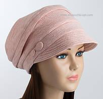 Женская шапка-кубанка с козырьком Odyssey светло-розовая