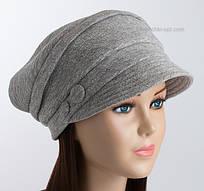 Теплая трикотажная шапка Odyssey светло-серая