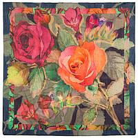10469-14, павлопосадский платок шерстяной (разреженная шерсть) с швом зиг-заг, фото 1