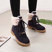 Женские замшевые зимние ботинки UGG синие , фото 2