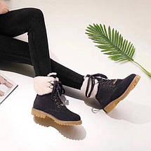 Женские замшевые зимние ботинки UGG синие , фото 3