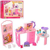 Мебель для куклы Метр +9817 кабинет доктора с пупсом и аксессуарами
