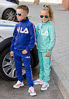"""Детский супер стильный спортивный костюм унисекс """"Fila"""" Копия ( турецкая двух нить высокого качества) , фото 1"""