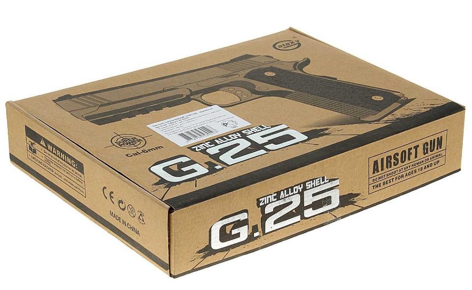 Страйкбольный пістолет Galaxy G. 25 (Colt 1911 Rail)